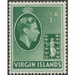 British Virgin Islands 1938 SG110 ½d. KGVI green